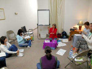 Reiki class in progress.