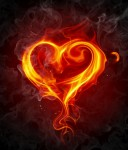 Holy Fire Reiki energy in the form of a flaming heart