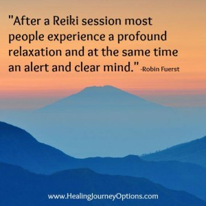 After Reiki people experience a profound relaxation