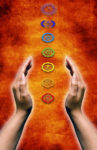 Hands Cupping Chakras