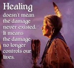 healing releases the damage so it no longer controls life